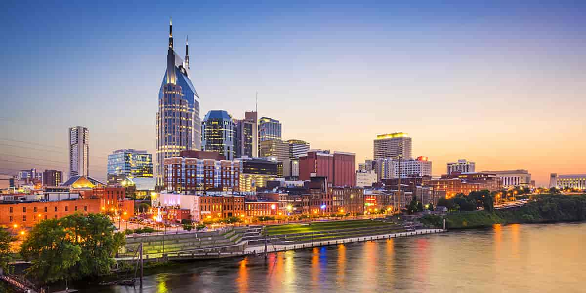 Downtown Nashville waterfront